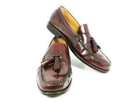 Johnston & Murphy Men's Shoes Burgundy Leather Slip On Loafer Tassel 9 M... - $27.76