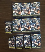 2018 Panini Prestige Football Fat Pack And Hanger Box Lot OF 11 Unopened - $79.99