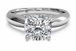 3.50 Ct Coupe Coussin D/SI1 Coussin Labo Anneau Fiançailles Diamant 14K ... - £2,194.48 GBP