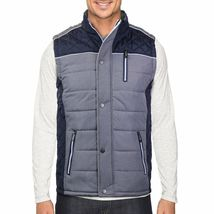 Holstark Men's Zip Up Multi Pocket Insulated Fleece Lined Two Tone Athletic Vest image 8