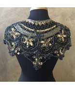 Sequin Beaded Lace Hip Wrap Collar Shoulder Shrug Shawl Applique Peacock... - $34.99