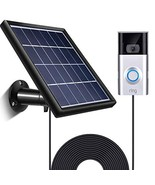 SATINIOR Solar Panel Compatible with Ring Video Doorbell 2, Waterproof C... - $39.75