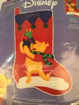 "Disney Winnie The Pooh ""Pooh's Presents"" Christmas Stocking Janlynn #1133-25 image 3"