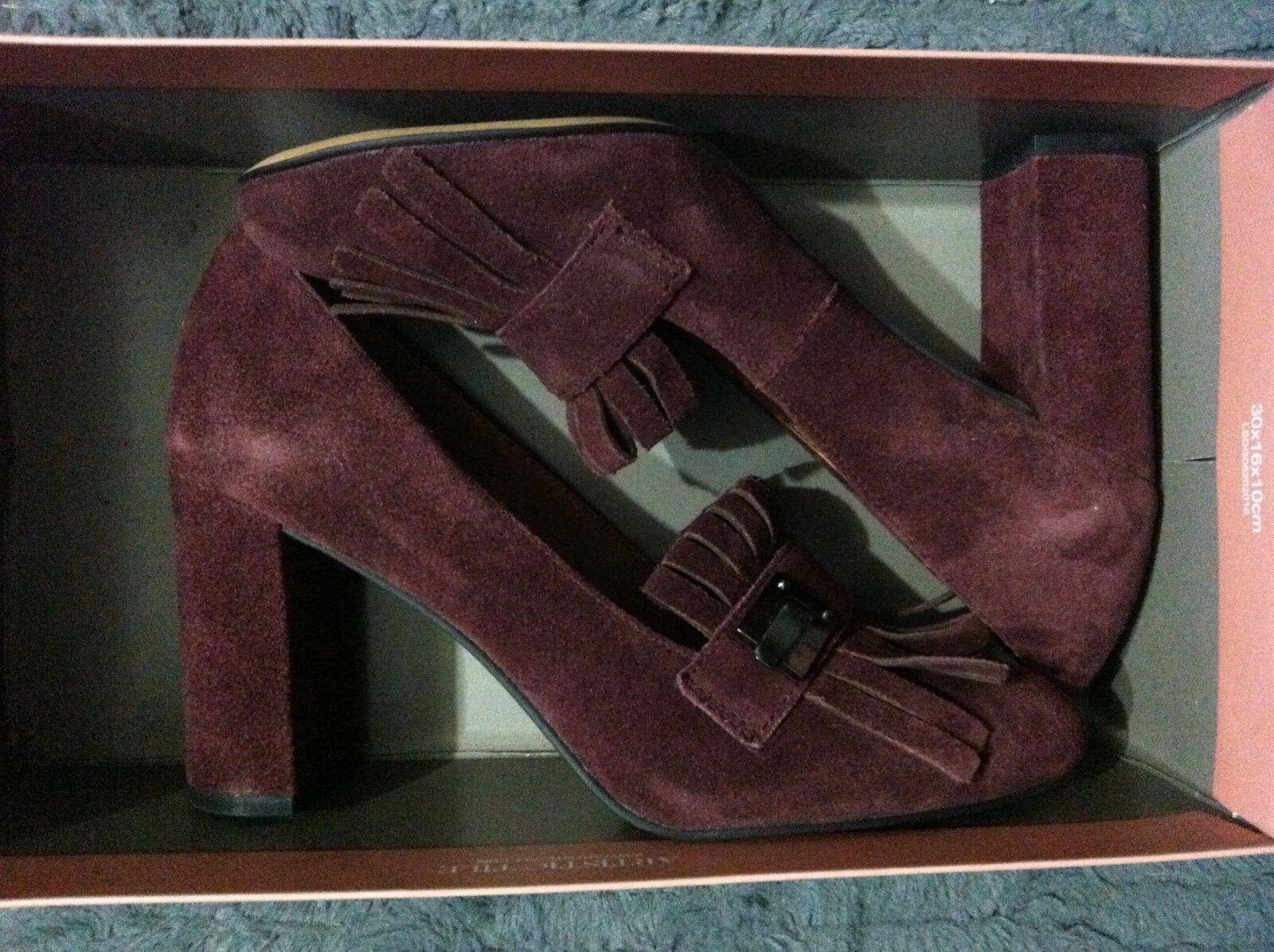 Franco Sarto Mujer Nuevo Piel Borgoña / ante Superior Vestido Zapatos Talla: 6M image 9
