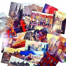 Postcard European Style Painting Greeting Card Collection Set Hand Set of 30 - $22.94
