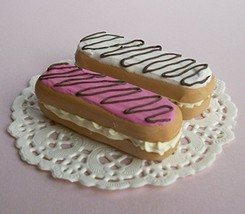 Eclair Pink and White Dessert Treat Set of 2 - Perfect for 18 Inch American Girl - $12.99