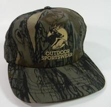 Deer Hunting Cap Camo Baseball Hat Snap Back Real Tree Green - $14.80