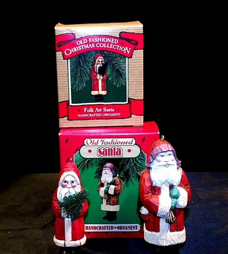 Hallmark Handcrafted Ornaments Old Fashioned Christmas Santa Ornament AA-191783