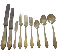 Clinton by Tiffany and Co Sterling Silver Flatware Set 8 Service 74 Pcs Dinner - $8,900.00