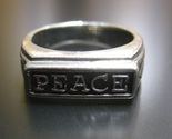 PEACE and Ichthus FISH RING in Sterling Silver - Size 6 - FREE SHIPPING