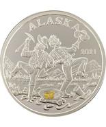 Alaska Mint 2021 Gold Panner Silver Medallion Proof  .999 Silver 1 Oz - $86.12