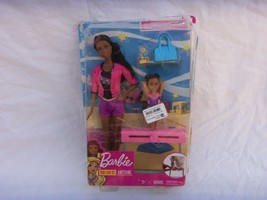 BARBIE GYMNASTICS COACH SET    NEW WITH DAMAGED PACKAGE - $8.86