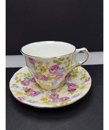 Royal Albert Handpainted Floral cup and saucer bone china England - $22.94