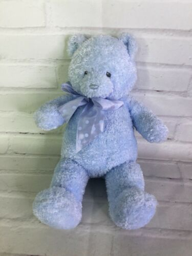 "Primary image for Baby Gund Blue Sweetkins 12"" Teddy Bear Plush Stuffed Animal Polka Dot Bow 58734"