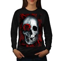 Skulls Rose Flower Jumper Biker Tattoo Women Sweatshirt - $18.99