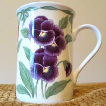 Roy Kirkham Pansy Fine Bone China Lancaster Mug Made In England Floral Multi New - $34.70