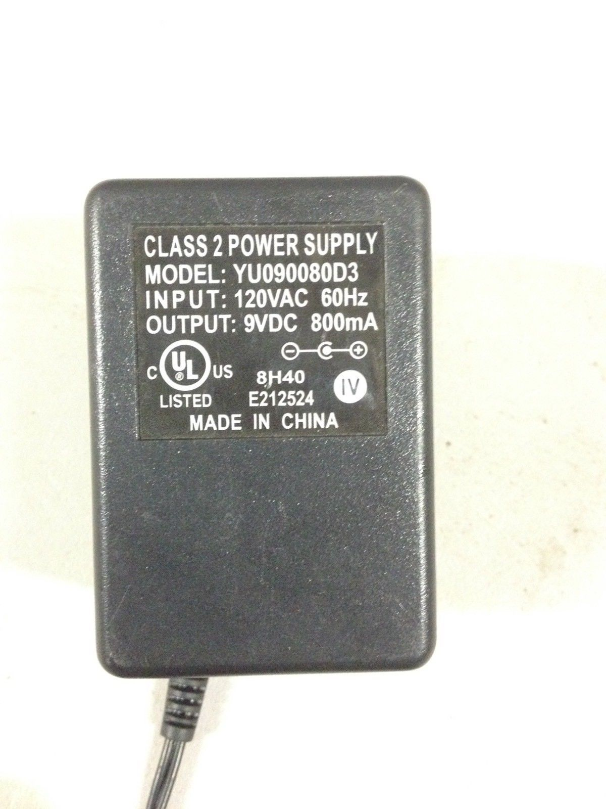 Class 2 Power Supply Yu090080d3 120vac 60hz and 50 similar items