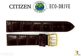 Citizen Eco-Drive E101M-S015588 20mm Braun Leder Armbanduhr Band Armband - $82.71