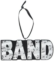 """Midwest CBK 3.75"""" x 1.5"""" Resin Music Notes """"Band"""" Ornament - $9.95"""