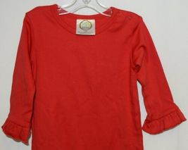 Blanks Boutique Long Sleeve Red Snap Up Ruffled Romper 12 months image 3