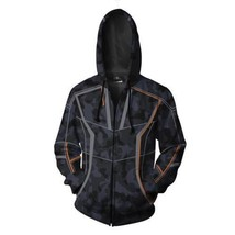 Avengers Infinity War 2018 Tony Stark RDJ Camouflage Men's Hoodie Black Jacket - $89.99