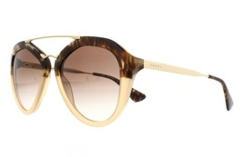 NEW PRADA CINEMA Gold/ Brown Havana Gradient Sunglass SPR13Q ROZ0A6 - $168.00