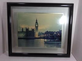 Vintage Original Gerahmt Bild von der Große Ben Gesehen Across The Thames - $59.33