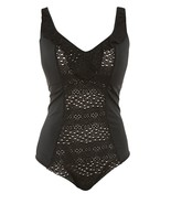 ELOMI INDIE ES7530 NON-WIRED MOULDED CUPS SWIMSUIT BLACK (BLK) CS - $126.91
