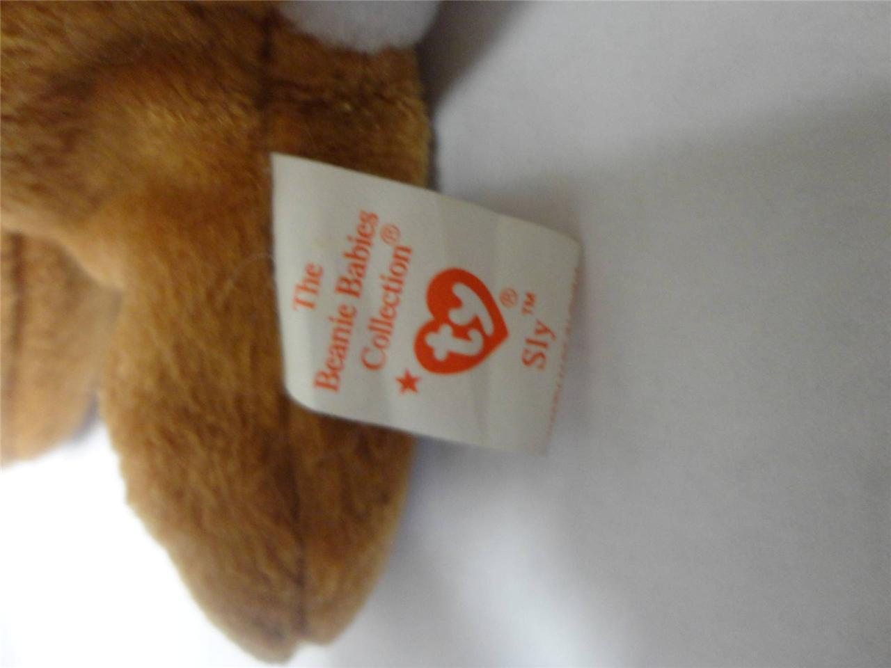 TY Beanie Baby Sly the Fox with PVC Pellets 1996