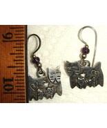 VTG STERLING SILVER KITTY CAT BROOCH PINS AMETHYST PENDANT DROP CLIP EAR... - $997.99