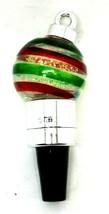 """Christmas Bulb Snow Globe Lights-up 5"""" Wine Bottle Stopper (D9) - $14.50"""
