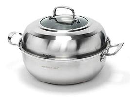 "Kitchen Art Steamer Cookware Steam Pot 12.6"" 32cm Induction Range Available"