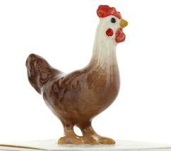 Hagen Renaker Miniature Chicken Leghorn Hen Red Ceramic Figurine image 5