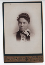 Pretty Fashion Lady I L Townsend Antique Cabinet Card Photograph - $30.00