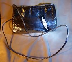 Vintage DANI Textured Silvertone Metallic Cross Body Bag - $25.00