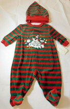 Starting Out Baby Boy's Footie PJ Pajamas w/ Beanie Size 3 Months Christ... - $18.89