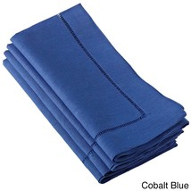 Fennco Styles Hemstitched Dinner Napkin, Set of 4 (cobalt blue) - $24.74