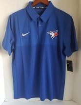 Nike Toronto Blue Jays Mens MLB Baseball Royal Blue Polo Shirt MSRP $75 - $26.95