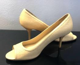 Kate Spade New York Peep Toe Embossed Snake Pattern Heels WMS Shoes SZ 40/10 - $45.47