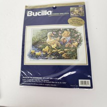 Bucilla Tales of the River Bank Cross Stitch Sewing Kit Teddy Bear Fishing - $32.95