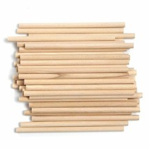 50Pieces Wooden Round Popsicle Stick Kids Hand Crafts Art Ice Cream Loll... - $16.14