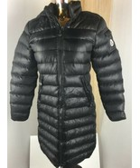 $1735 MONCLER GAURA BLACK SHINY HOODED PUFFER QUILTED JACKET COAT SIZE 3 - $692.01