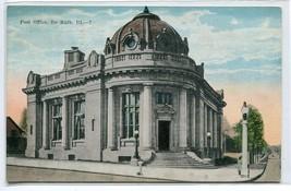 Post Office De Kalb Illinois 1924 postcard - $6.88