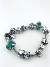 """Pandora Argent Sterling 13 Charms Bracelet 7.5 """" Pouce Long - $231.28"""