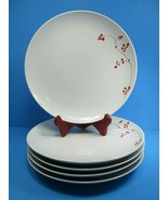 "5 MIKASA Gourmet Basics Collection 10.5"" Dinner Plates Red Berries  Bund... - $40.40"