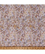Cotton Mosaic Tiles Squares Mosaic Masterpiece Natural Fabric by Yard D7... - $14.95