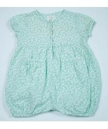 BABY GAP GIRLS SMALL 3-6 MONTHS GREEN BUTTERFLY ROMPER 1 PC OUTFIT 3M 6M - $9.89