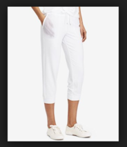 Ralph Lauren Women's Plus Size Cropped Mesh Skinny Sweatpants, White, 2X - $45.53