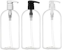 Empty Shampoo Bottles with Pumps, 32oz/1Liter/Large, BPA-FREE, Lightweig... - $16.39