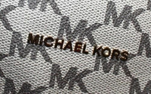 Michael Kors NWT Brown Leather Signature Lauryn Shoulder Bag Purse image 4